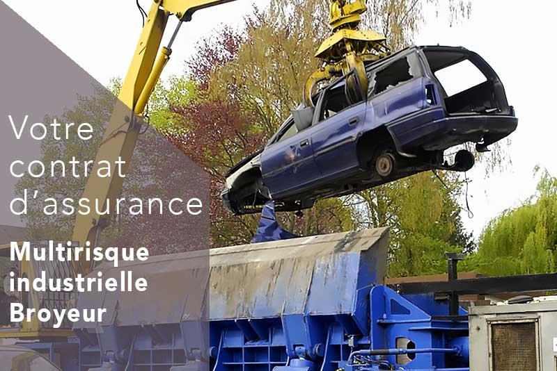 Assurance broyeur casse et recycleur automobile